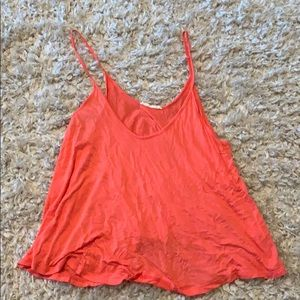 Lush Flowey Tank Top- Coral in color